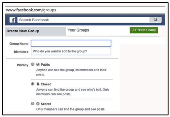 Start Facebook Group