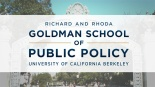 UC Berkeley, Goldman School, Public Policy, Shannon Fisher, MsShannonFisher